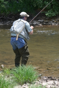 On the Tunungwant Creek at a fly fishing competition hosted by Project Headwaters PA this past weekend.